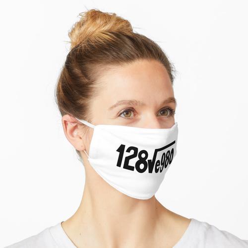 Ich liebe dich Verstecktes Wort (Weiß) Maske