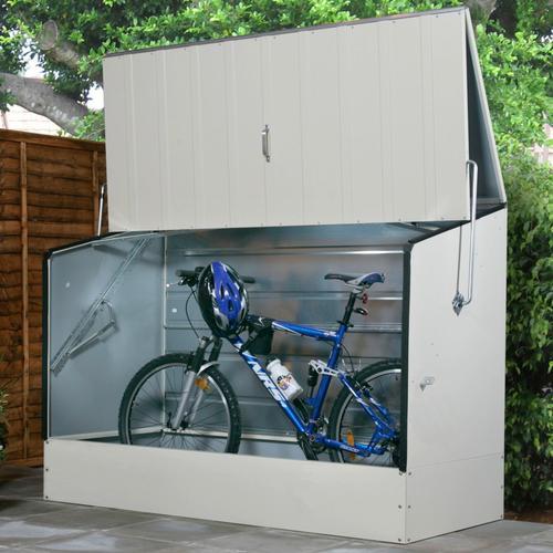 Trimetals Fahrradbox, BxTxH: 196x89x133 cm beige Fahrradunterstände Garten Balkon Fahrradbox