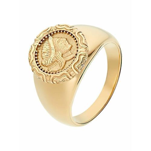 Ring für Damen, Edelstahl, Münze Noelani Gold