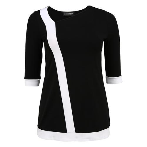 Tunika mit breitem Streifen Doris Streich schwarz/weiß