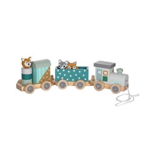 Holz-Eisenbahn Spielzeugeisenbahnen mehrfarbig