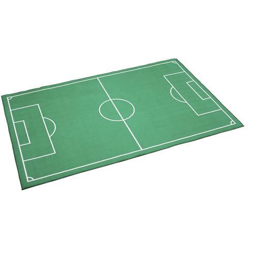 Böing Carpet Kinderteppich Fußballfeld, rechteckig, 4 mm Höhe, bedruckt, Fußball Spielteppich, waschbar, Kinderzimmer grün Waschbare Teppiche Weitere