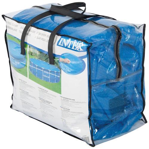 Intex Pool-Abdeckplane, Ø: 305 cm blau Poolzubehör -reinigung Pools Planschbecken Garten Balkon Pool-Abdeckplane