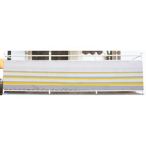 Angerer Freizeitmöbel Balkonsichtschutz Nr. 600, Meterware, gelb/grau, H: 75 cm gelb Markisen Garten Balkon