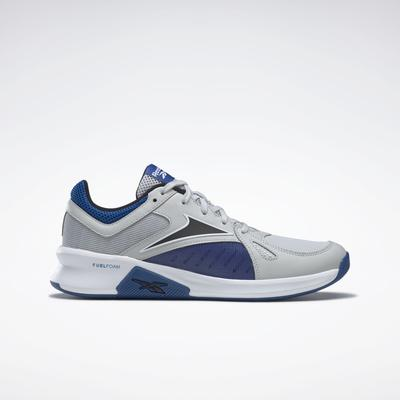 Reebok Men's Advanced Trainer Shoes in Pure Grey 2/Vector Blue/Black Size 12 - Cross Training,Training Shoes