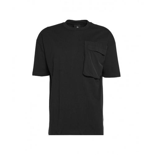 Thom Krom Herren T-Shirt mit aufgesetzter Tasche Schwarz