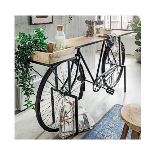 "die Faktorei Unikat ""Fahrrad-Konsole Blacky"" 185x86x35 cm"