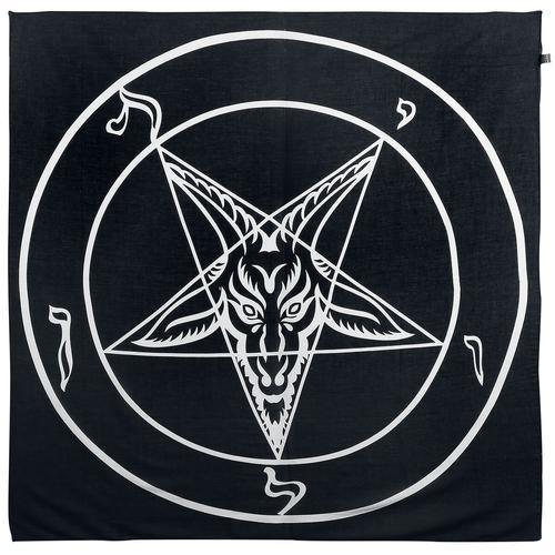 Rock Daddy Pentagramm Ocult Halstuch Tuch - schwarz weiß