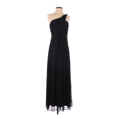 Alex Evenings Cocktail Dress - Formal: Black Solid Dresses - Used - Size 4