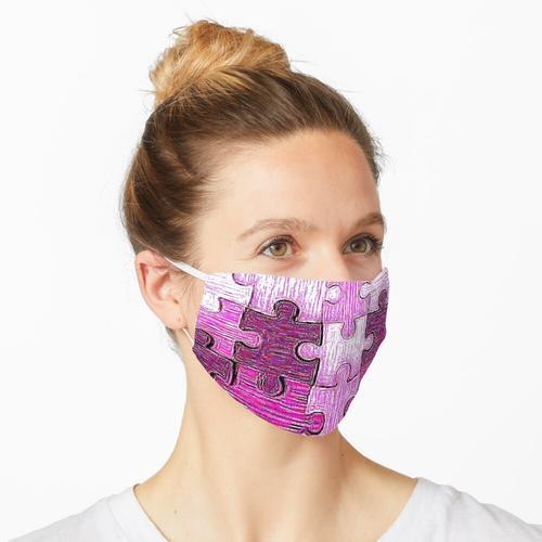 Puzzle-Maske, Puzzle-Maske, rosa Puzzle-Maske, rosa Puzzle-Maske, rosa Maske, rosa Maske, qua Maske