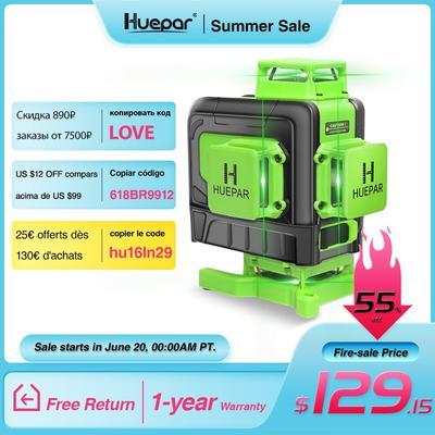 Huepar Niveau Laser 16 Lignes 4D...