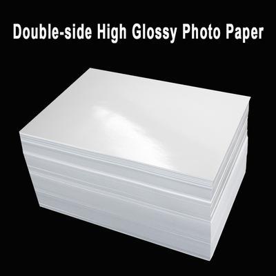 Papier photo A4 double face à haute brillance pour imprimante à jet d'encre, papier couché pour