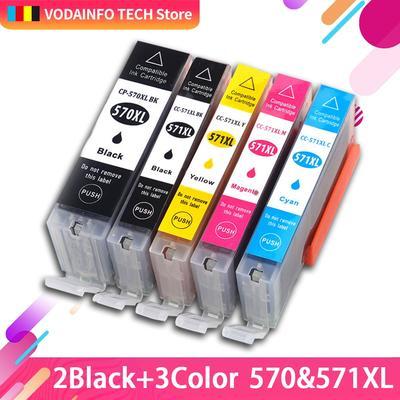Cartouche d'encre Compitalbe 5 couleurs, pour Canon PGI 570 CLI 571 XL, pour Pixma MG5750 MG5751