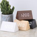 Horloge numérique en bois, révei...