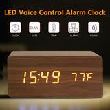 Horloge en bois à commande vocal...