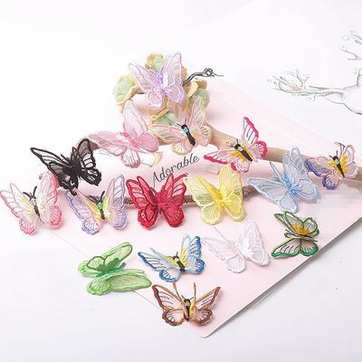 Patchs papillons 3D en dentelle,...