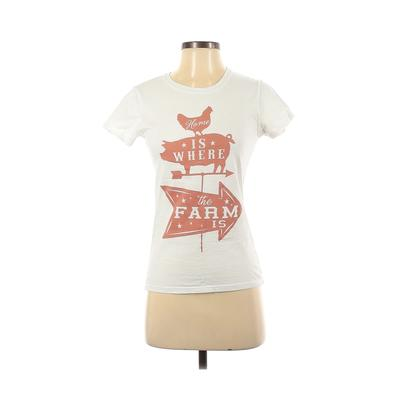 Farm Fed Clothing - Farm Fed Clothing Short Sleeve T-Shirt: White Graphic Tops - Size Small
