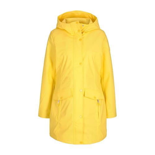 TOM TAILOR Damen leichte beschichtete Regenjacke, gelb, Gr.XS