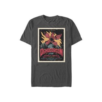 Stranger Things Charcoal Stranger Things Gig Poster Graphic T-Shirt