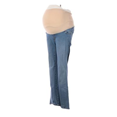 Motherhood Jeans - High Rise: Blue Bottoms - Size Small Maternity