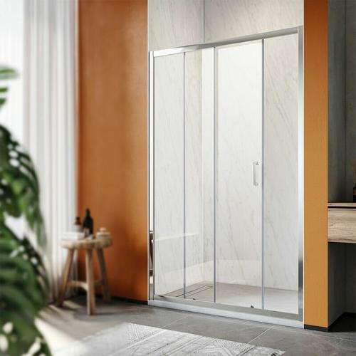 SONNI Duschkabine Duschtüren 100x185cm Duschschiebetür Dusche Nischentür Einzelschiebetür