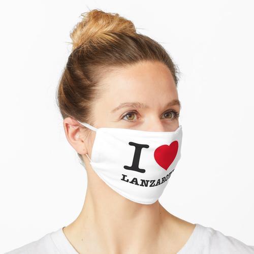 I LOVE LANZAROTE Maske