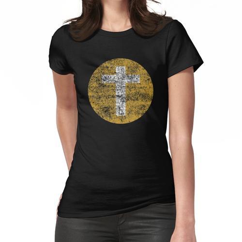 Das alte schroffe Kreuz Frauen T-Shirt