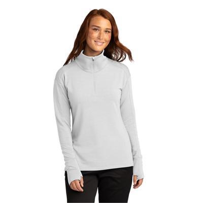 Sport-Tek LST561 Women's Sport-Wick Flex Fleece 1/4-Zip in White size 4XL | Polyester Blend