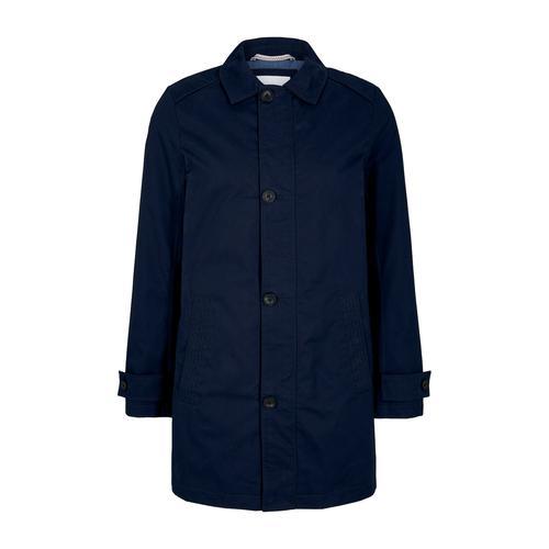 TOM TAILOR Herren kurzer Mantel aus Twill, blau, Gr.S
