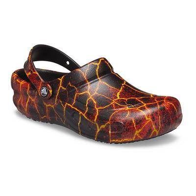 Crocs Pfd Black / Flame Bistro Graphic Clog Shoes