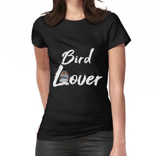 Vogelliebhaber, Bird lover, Zebrafink, Finken, Zebrafinken, Zebrafink schaukelt auf L Frauen T-Shirt