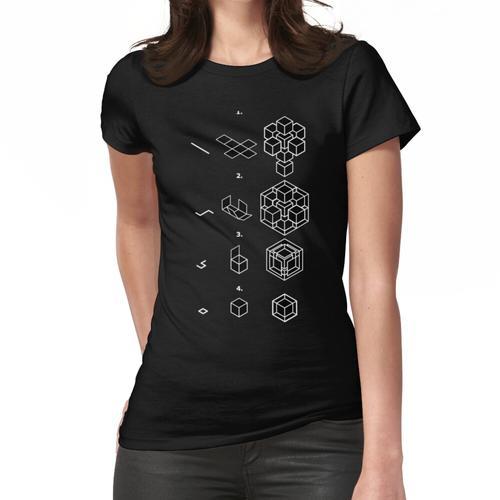 Tesseract Faltanleitung Frauen T-Shirt
