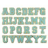 1 ensemble de 26 lettres brodées...