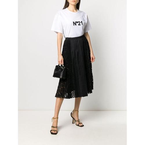 N°21 T-Shirt mit Kristall-Logo