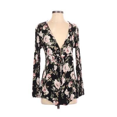 Show Me Your Mumu Romper: Black Floral Rompers - Size Small