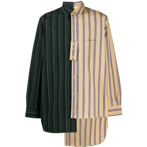 Lanvin Asymmetrisches Hemd mit Streifen