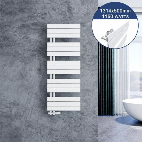 Badheizkörper Handtuchhalter 1314x500mm Handtuchtrockner mit Heizkörper thermostatkopf
