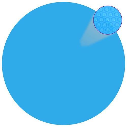 Runde Pool-Abdeckung PE Blau 488 cm