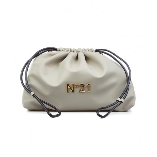 N21 Damen Coulisse Eva Maxi mit Logo Grau