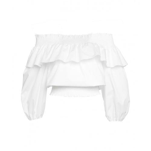 Liu Jo Damen Off-Shoulder Bluse Weiß