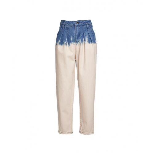 Kaos Damen Jeans im Carrot-Fit mit Farbverlauf Blau
