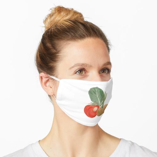 Bohnen Grüne Kartoffeln Tomaten Maske