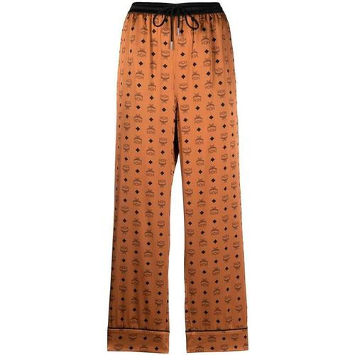 MCM Pyjama-Hose mit Logo-Print