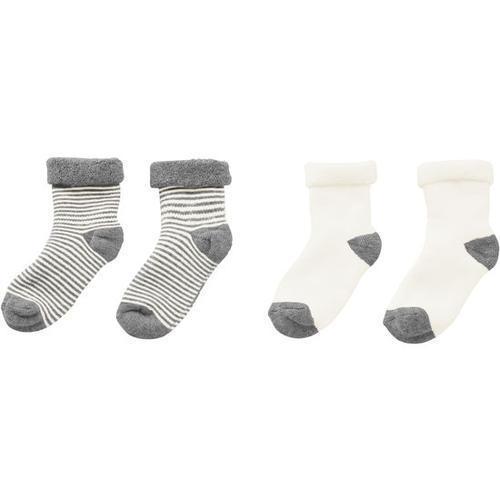 Frottee-Socken, weiß, Gr. 19/22