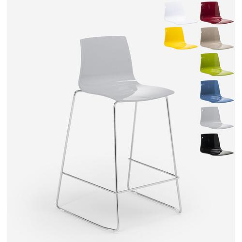 Design Hocker Bar Küche 86cm Design Mini Imola | Grau - Grand Soleil