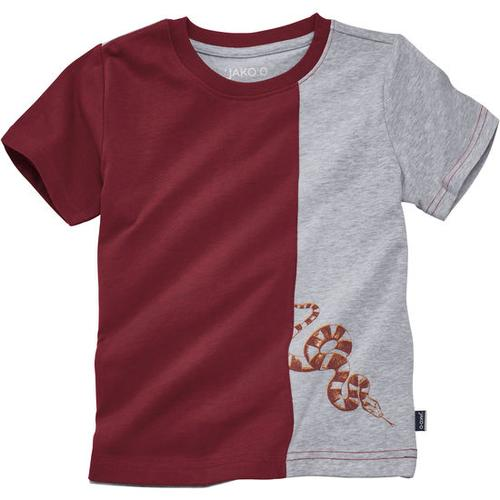 T-Shirt Kontrast, rot, Gr. 152/158