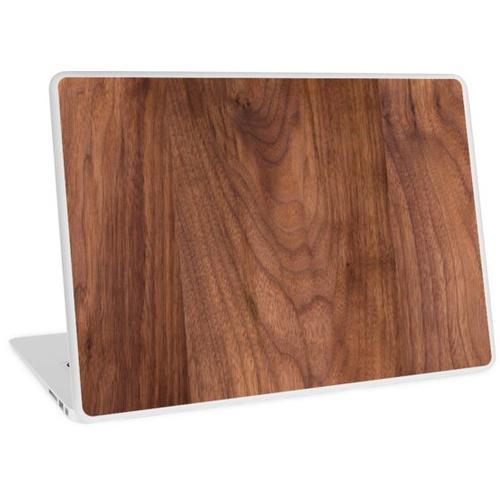 Walnussholz Textur 1 Laptop Skin