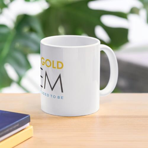 Solid Gold Gem Mug