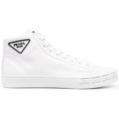 Prada Wheel Cassetta High-Top-Sneakers