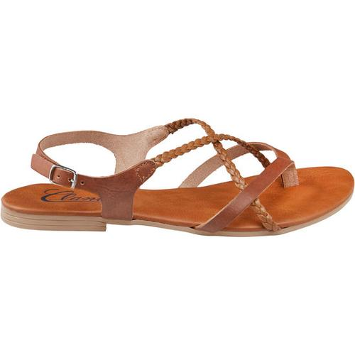 Sandale geflochten, braun, Gr. 38